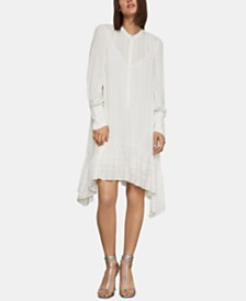 BCBGMAXAZRIA Flounce-Hem Eyelet Shift Dress