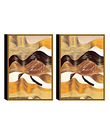 Chic Home Decor Regis 2 Piece Framed Canvas Wall Art Abstract Design