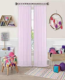 "Greta 50"" x 63"" Crushed Sheer Curtain Panel"
