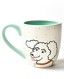 Pet Curly Dog Portrait Mug