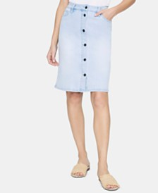 Sanctuary Lillian Denim Button-Down Skirt
