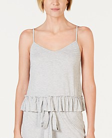 I.N.C. Ultra Soft Knit Ruffle Flounce Pajama Top, Created for Macy's