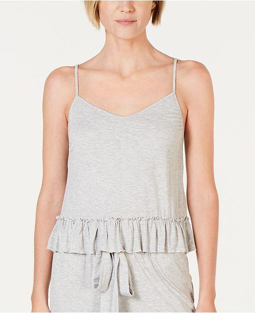 INC International Concepts INC Ultra Soft Knit Ruffle Flounce Pajama Top, Created for Macy's