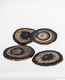 Decor Black Agate Coasters - Set of Four