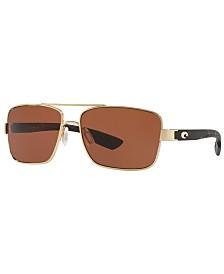 Costa Del Mar Polarized Sunglasses, NORTH TURN 59