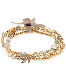 lonna & lilly Gold-Tone 3-Pc. Set Beaded Stretch Bracelet