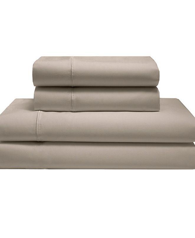 Elite Home Silky Soft Long Staple Cotton Solid King Sheet Set