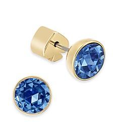 Stainless Steel Colored Crystal Stud Earrings