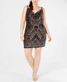 Jump Juniors' Plus Size Glitter Bodycon Dress