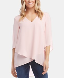 Karen Kane High-Low Crossover Top, Created for Macy's