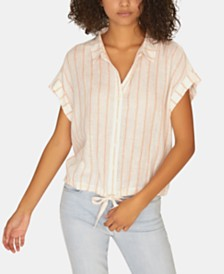 Sanctuary Borrego Striped Tie-Front Shirt