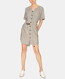Ellis Split-Neck Rope-Waist Dress