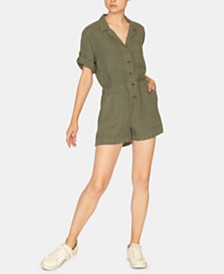 Sanctuary Squad Leader Surplus Button-Up Romper