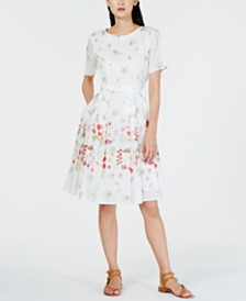 Weekend Max Mara Giunto Cotton Floral Dress