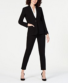 One-Button Blazer & Skinny Pants