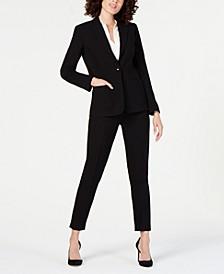 One-Button Blazer & Skinny Pants