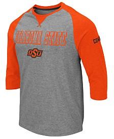 Colosseum Men's Oklahoma State Cowboys Team Patch Three-Quarter Sleeve Raglan T-Shirt