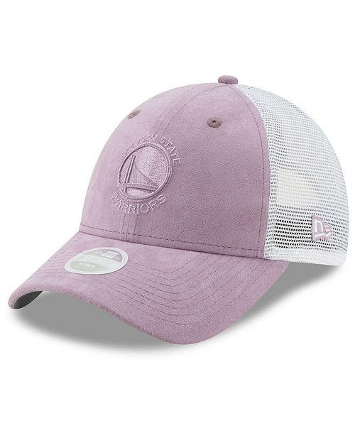 b1eac7c428799c ... Strapback Cap; New Era Women's Golden State Warriors Suede Trucker  9FORTY Strapback ...