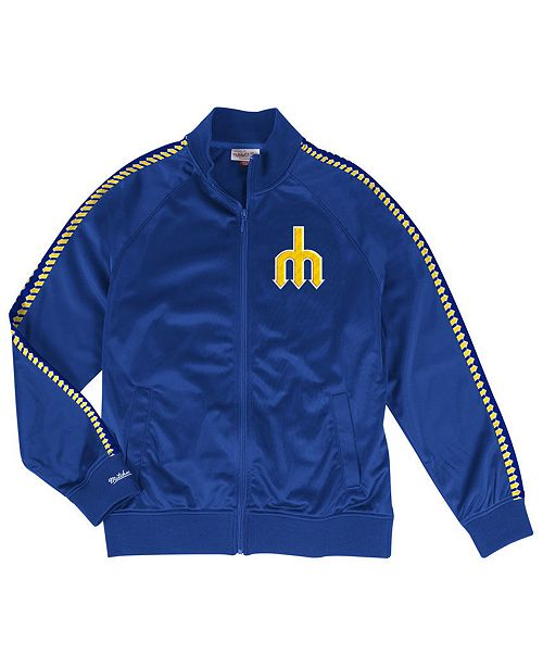 Mitchell & Ness Men's Seattle Mariners Sublimated Sleeve Track Jacket