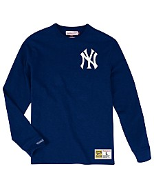 4c9ac56ca71 Mitchell   Ness Men s New York Yankees Slub Long Sleeve T-Shirt