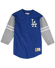 Mitchell & Ness Men's Big & Tall Los Angeles Dodgers Heyday Henley T-Shirt
