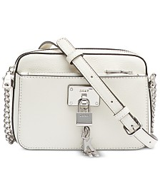 DKNY Elissa Pebble Leather Crossbody, Created for Macy's