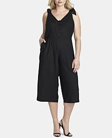 Jessica Simpson Trendy Plus Size Tie-Strap Jumpsuit
