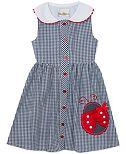 Rare Editions Little Girls Gingham Seersucker Dress
