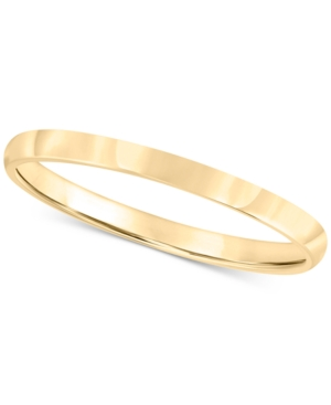 14k Gold 2mm Wedding Band
