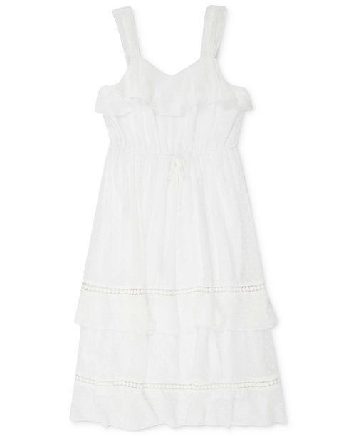 Speechless Big Girls Ruffle Clip Dot Dress