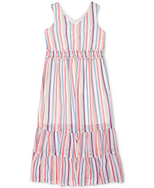 Speechless Big Girls Rainbow Stripe Maxi Dress