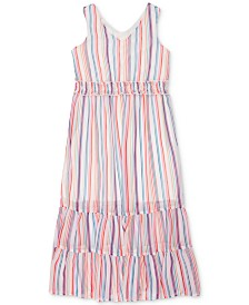 Speechless Big Girls Rainbow Stripe Maxi Dress