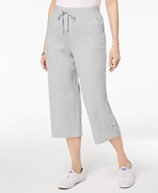 Karen Scott Petite French Terry Capri Pants, Created for Macy's