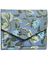 4233d6a626a COACH Floral Print Small Wallet