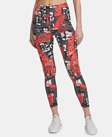 DKNY Sport Printed High-Waist Leggings