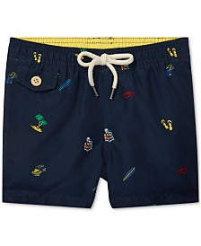 Polo Ralph Lauren Baby Boys Traveler Print Swim Trunks