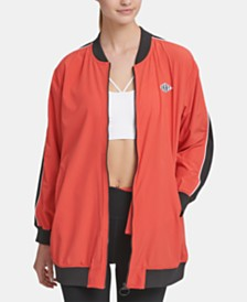 DKNY Sport Long-Line Bomber Jacket, Created for Macy's
