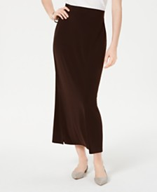 JM Collection Side-Slit Pull-On Skirt, Created for Macy's