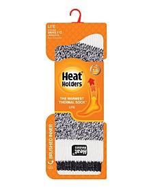 Heat Holders Men's Lite Cream Block Twist Thermal Socks