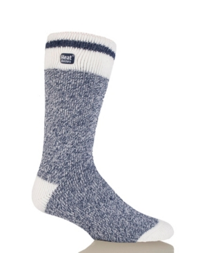 Men's Lite Cream Block Twist Thermal Socks