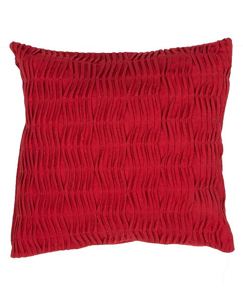 Jaipur Living Florenza Red Solid Down Throw Pillow 20""