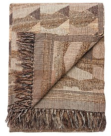 "Jaipur Living Anders Taupe/Gray Abstract Throw 52"" X 68"""