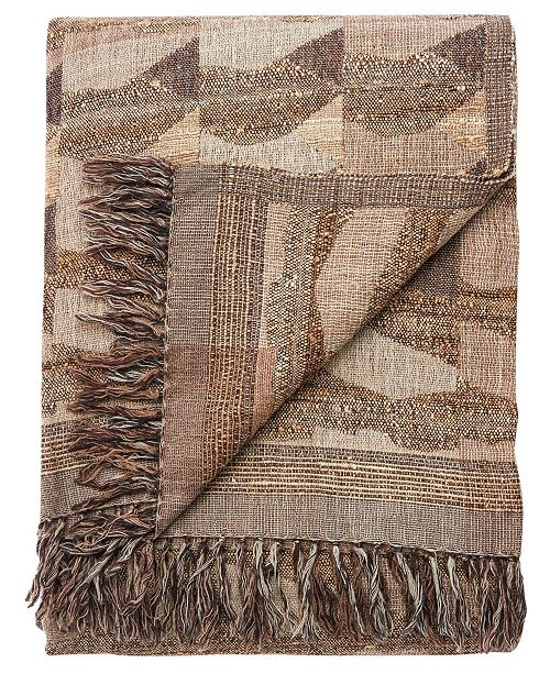 """Jaipur Living Anders Taupe/Gray Abstract Throw 52"""" X 68"""""""