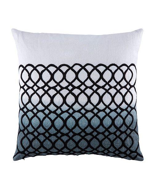 "Jaipur Living Nikki Chu By Seville White/Blue Geometric Throw Pillow 22"" Collection"