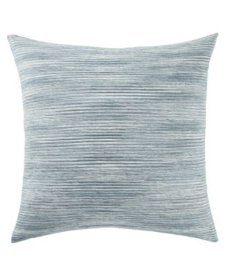 """Galexy Blue/White Solid Down Throw Pillow 20"""""""