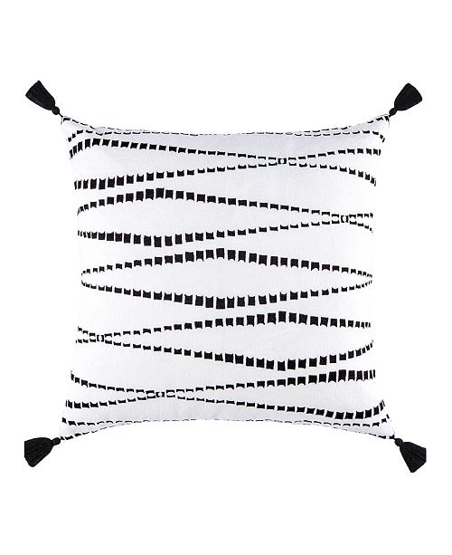 Jaipur Living Nikki Chu By Kemina White/Black Geometric Poly Throw Pillow 22""