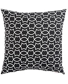 "Jaipur Living Titan Black/White Geometric Indoor/ Outdoor Throw Pillow 20"""