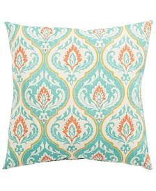 "Jaipur Living Ragone Fresco Turquoise/Orange Medallion Indoor/ Outdoor Throw Pillow 20"""