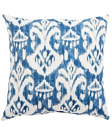 Jaipur Living Rivoli Fresco Blue/White Ikat Indoor/ Outdoor Throw Pillow 20""
