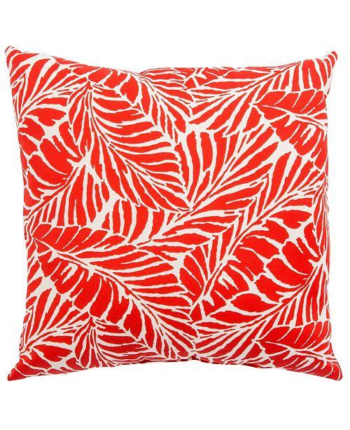 "Jaipur Living Malkus Fresco Red/White Floral Indoor/ Outdoor Throw Pillow 20"""